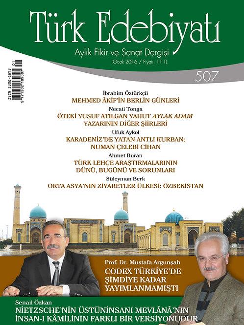 Türk Edebiyatı Dergisi 507. Sayı