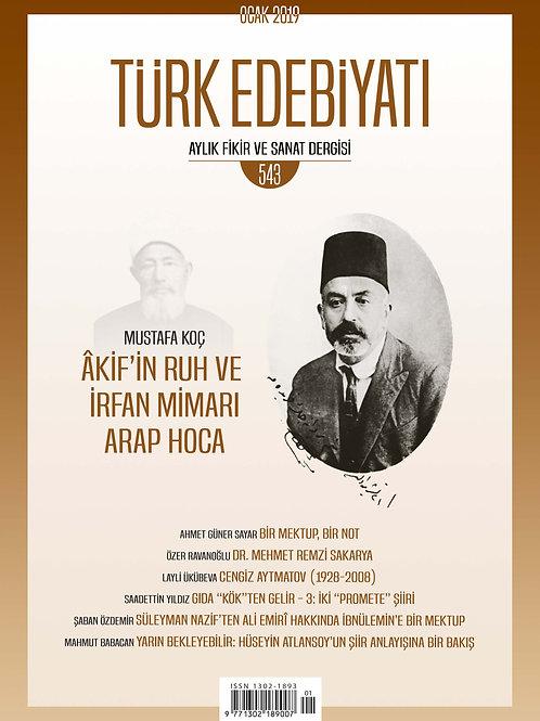 Türk Edebiyatı Dergisi 543. Sayı