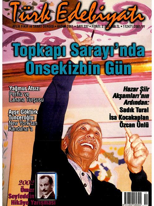 Türk Edebiyatı Dergisi 337. Sayı