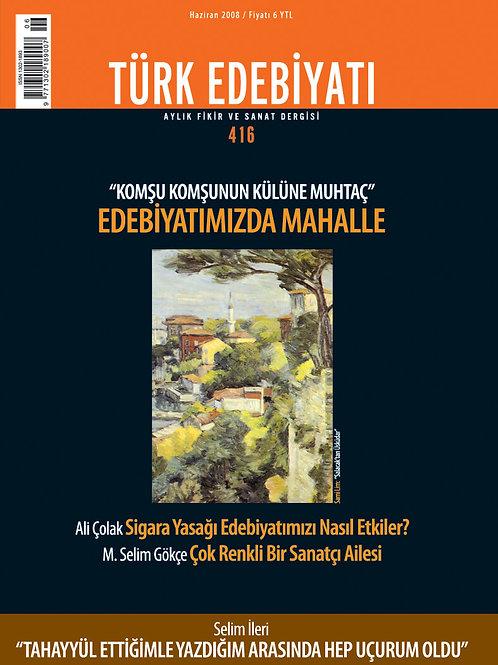 Türk Edebiyatı Dergisi 416. Sayı