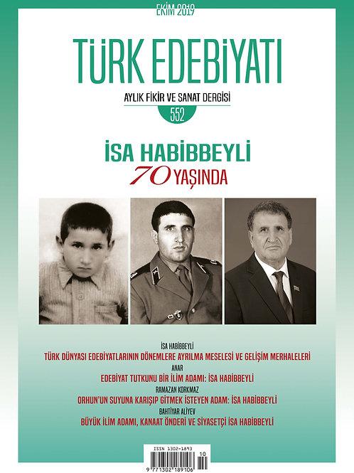 Türk Edebiyatı Dergisi 552. Sayı