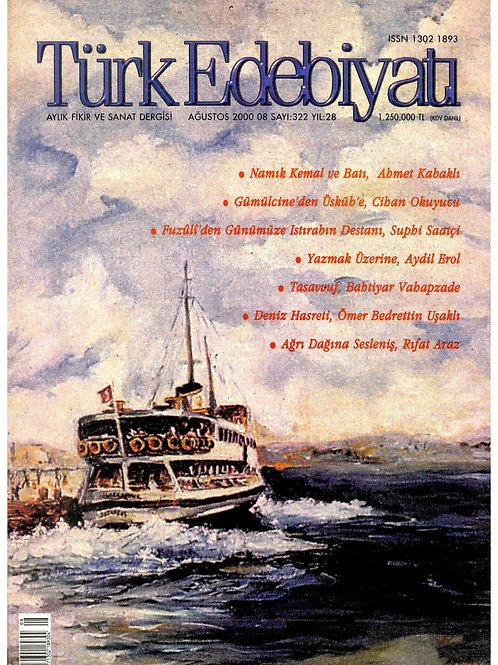 Türk Edebiyatı Dergisi 322. Sayı