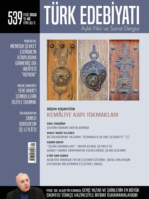 Türk Edebiyatı Dergisi 539. Sayı