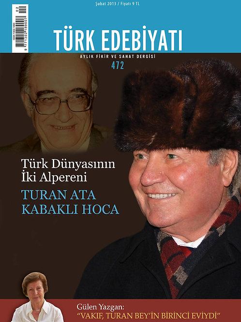 Türk Edebiyatı Dergisi 472. Sayı