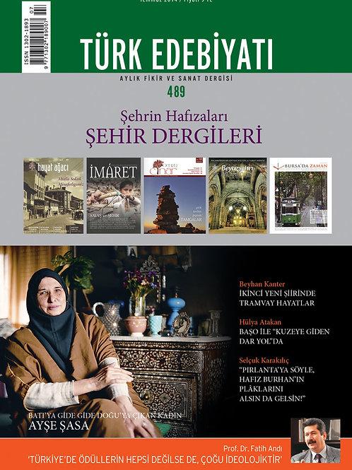 Türk Edebiyatı 489. Sayı