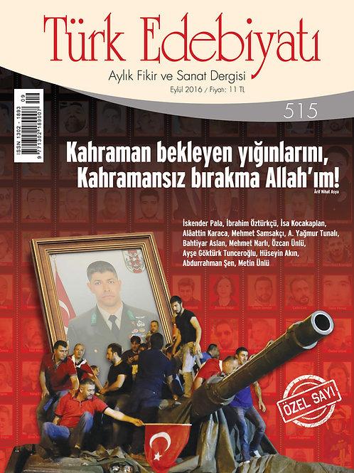 Türk Edebiyatı Dergisi 515. Sayı
