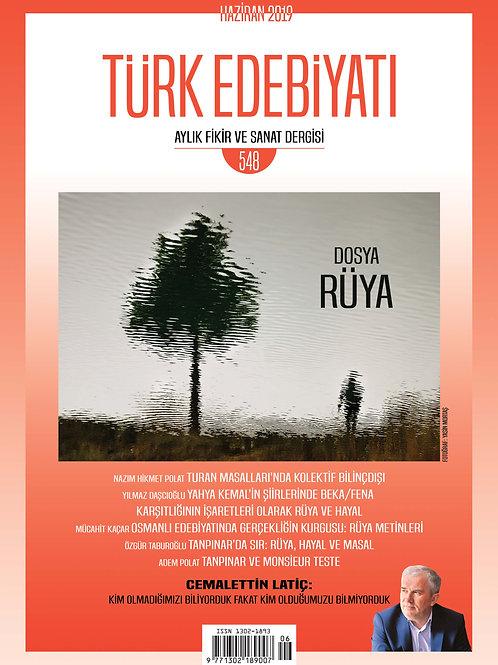 Türk Edebiyatı Dergisi 548. Sayı