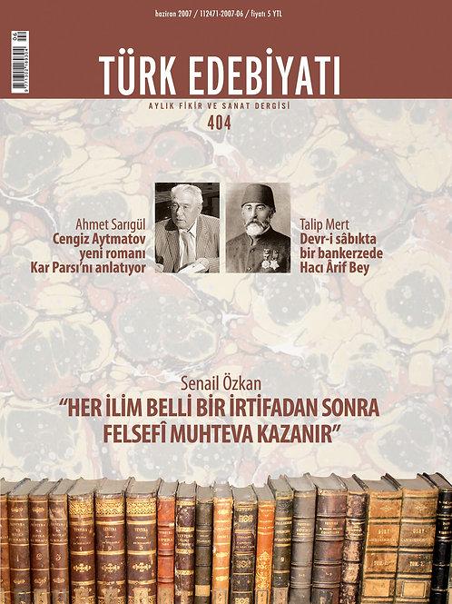 Türk Edebiyatı Dergisi 404. Sayı