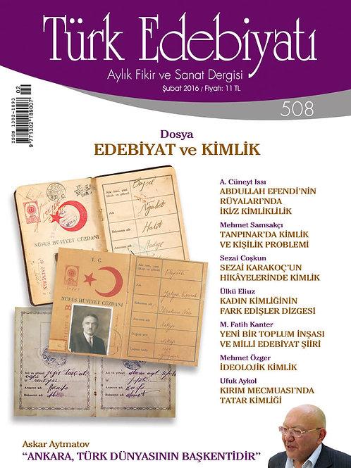 Türk Edebiyatı 508. Sayı