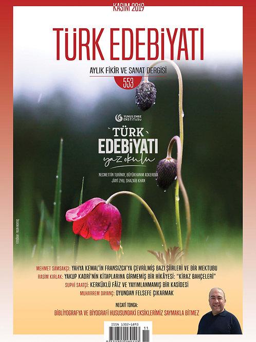 Türk Edebiyatı Dergisi 553. Sayı