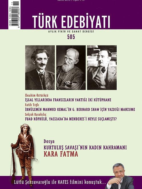 Türk Edebiyatı Dergisi 505. Sayı