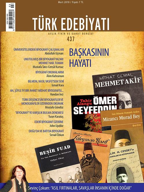 Türk Edebiyatı Dergisi 437. Sayı