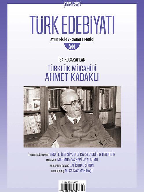 Türk Edebiyatı Dergisi 544. Sayı