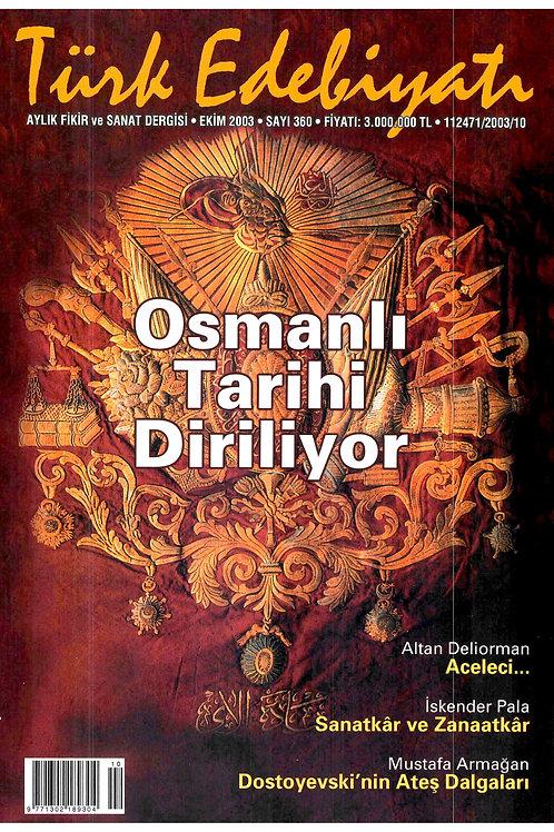 Türk Edebiyatı Dergisi 360. Sayı