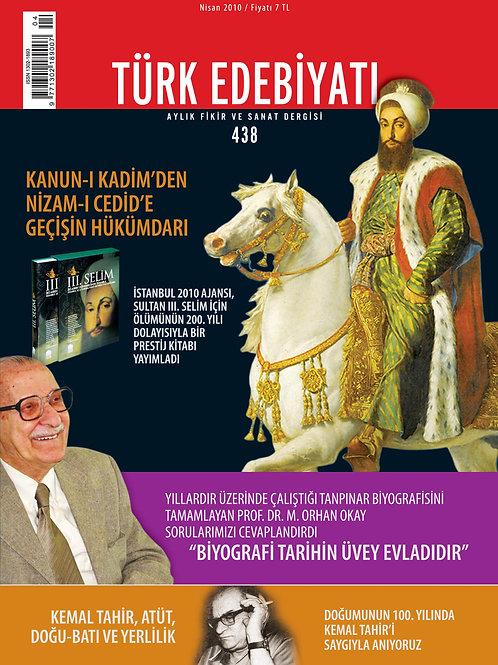 Türk Edebiyatı Dergisi 438. Sayı