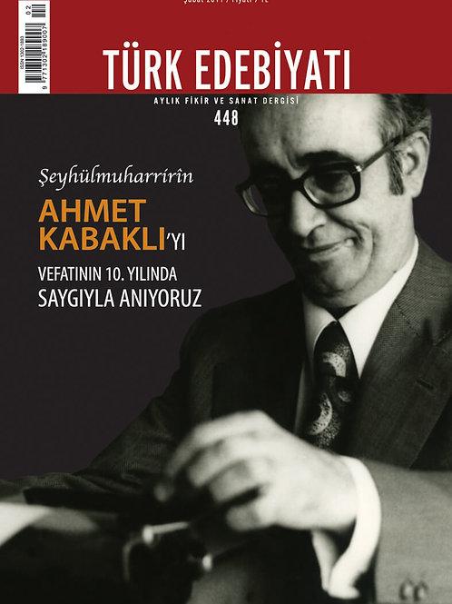 Türk Edebiyatı Dergisi 448. Sayı