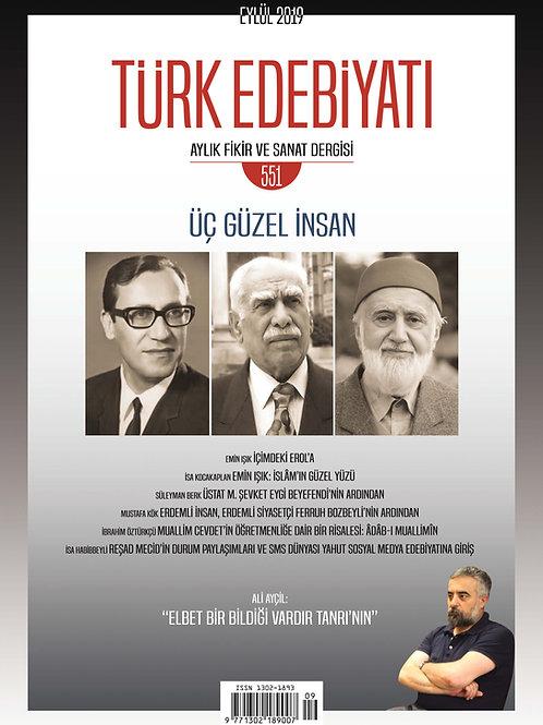 Türk Edebiyatı Dergisi 551. Sayı