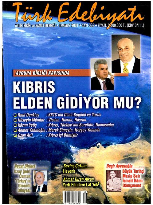 Türk Edebiyatı Dergisi 333. Sayı