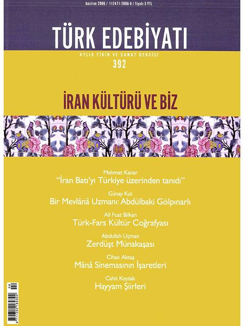 Türk Edebiyatı Dergisi 392. Sayı