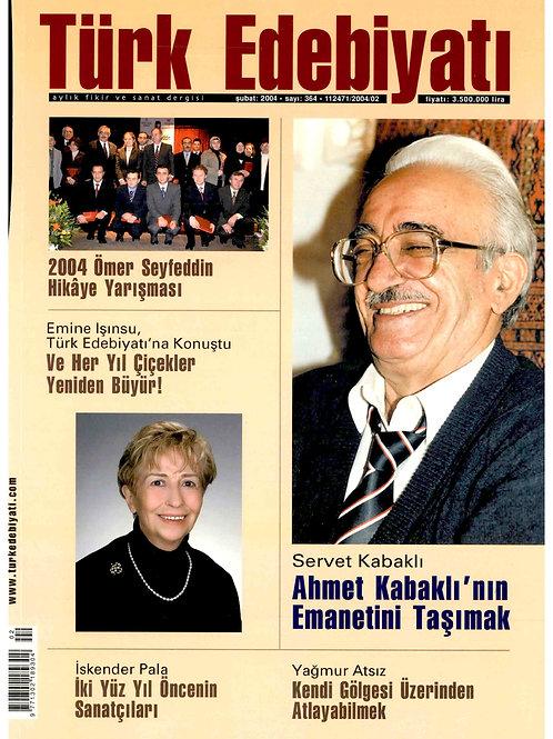 Türk Edebiyatı Dergisi 364. Sayı