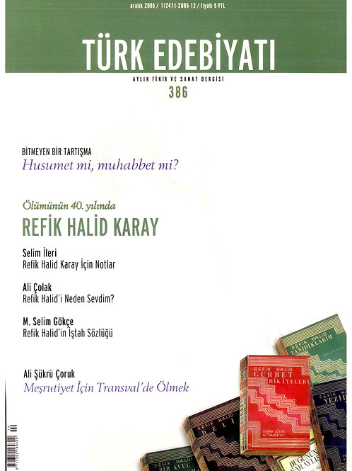 Türk Edebiyatı Dergisi 386. Sayı