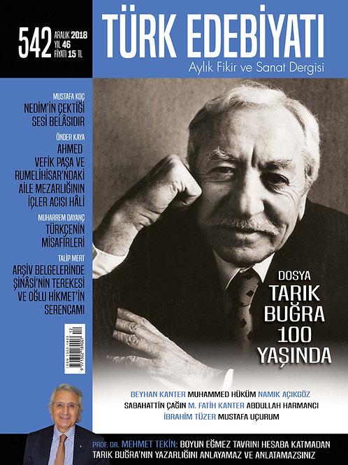 Türk Edebiyatı Dergisi 542. Sayı