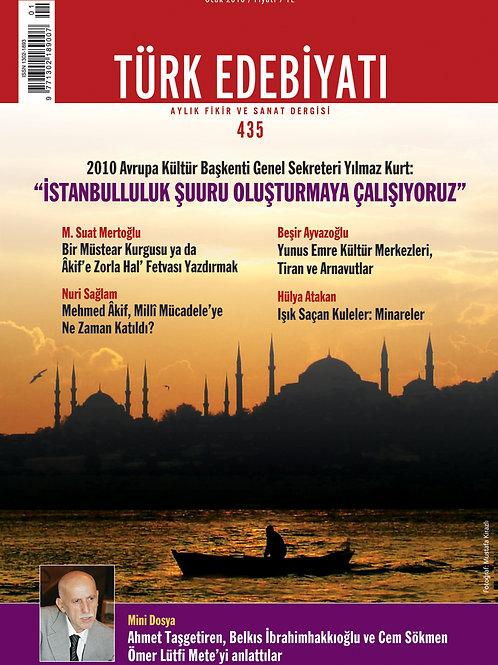Türk Edebiyatı 435. Sayı