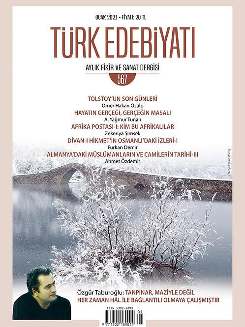 Türk Edebiyatı Dergisi 567. Sayı