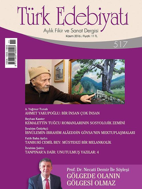 Türk Edebiyatı Dergisi 517. Sayı