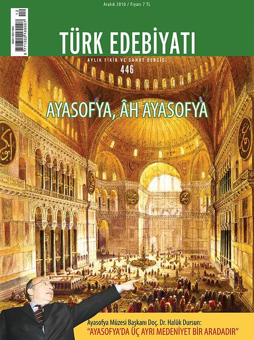 Türk Edebiyatı Dergisi 446. Sayı