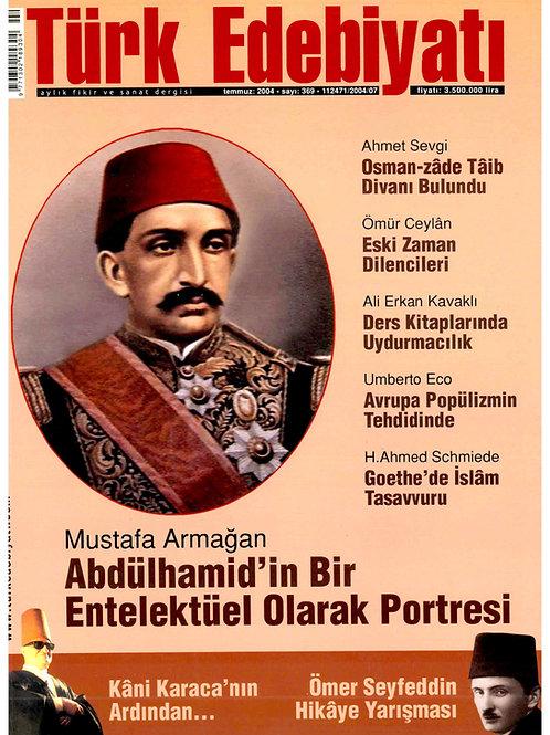 Türk Edebiyatı Dergisi 369. Sayı