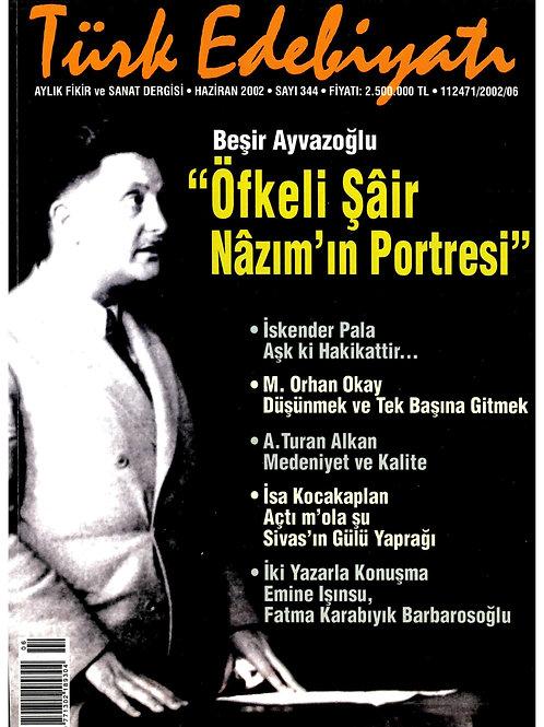 Türk Edebiyatı Dergisi 344. Sayı