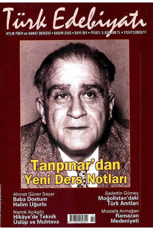 Türk Edebiyatı Dergisi 361. Sayı
