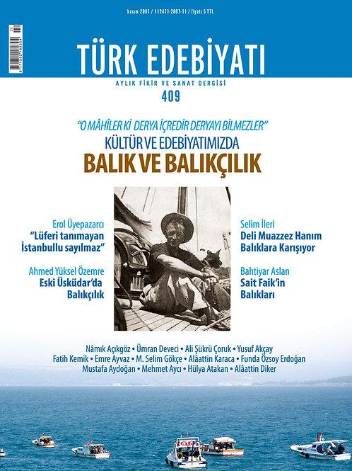 Türk Edebiyatı Dergisi 409. Sayı