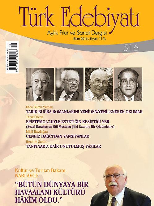 Türk Edebiyatı Dergisi 516. Sayı