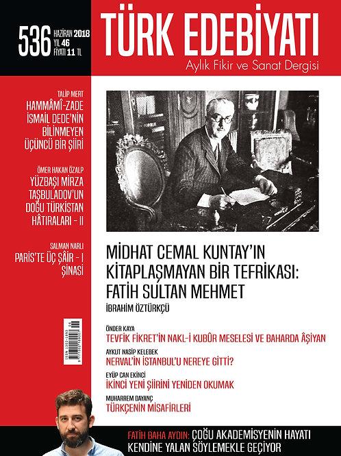 Türk Edebiyatı Dergisi 536. Sayı