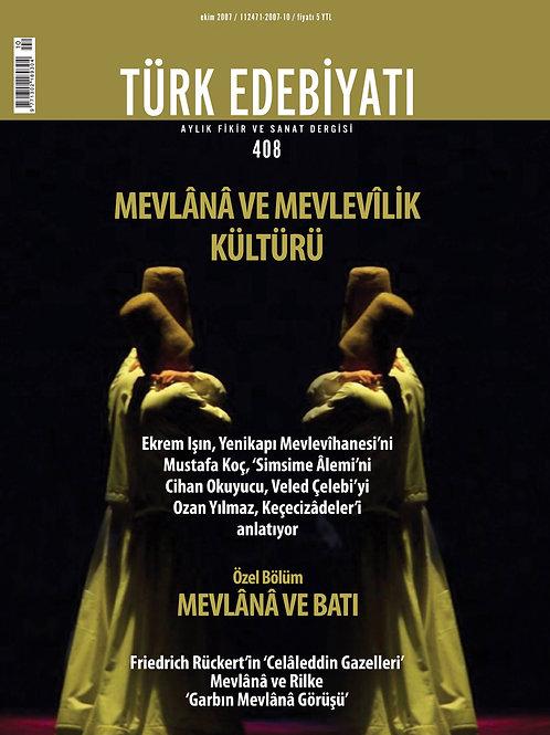 Türk Edebiyatı Dergisi 408. Sayı
