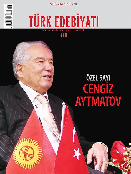 Türk Edebiyatı Dergisi 418. Sayı
