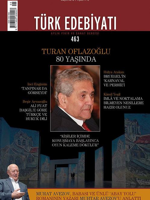 Türk Edebiyatı Dergisi 463. Sayı