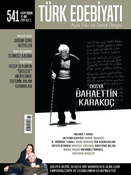 Türk Edebiyatı Dergisi 541. Sayı
