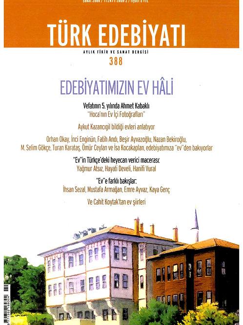 Türk Edebiyatı Dergisi 388. Sayı
