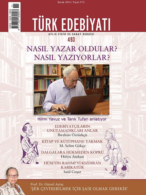 Türk Edebiyatı Dergisi 493. Sayı