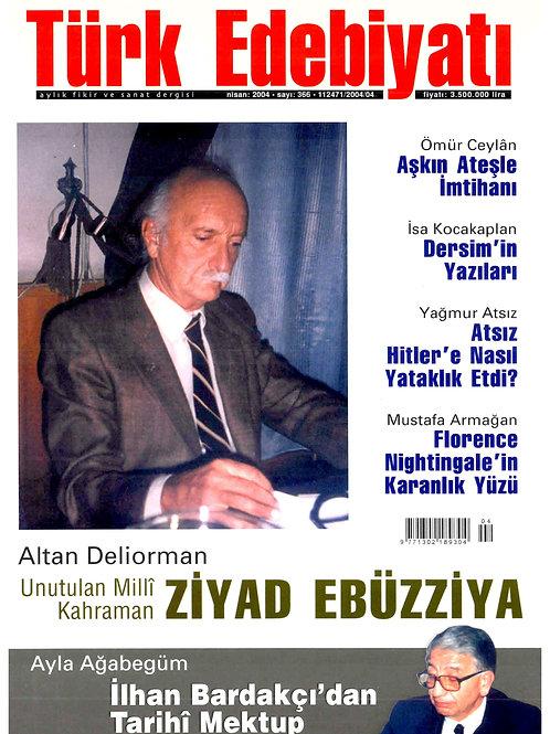 Türk Edebiyatı Dergisi 366. Sayı