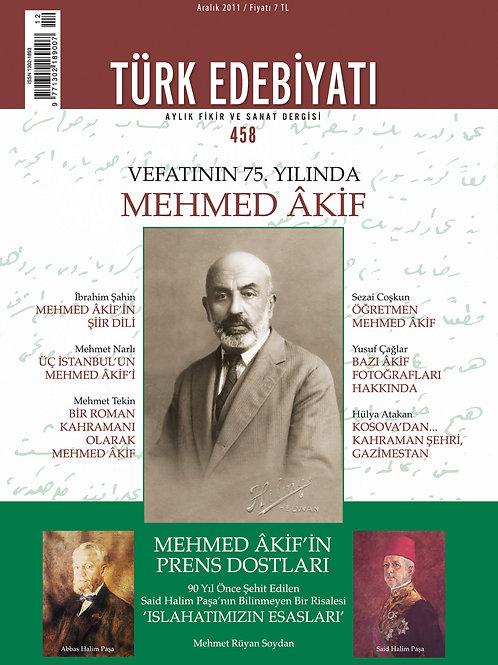 Türk Edebiyatı Dergisi 458. Sayı