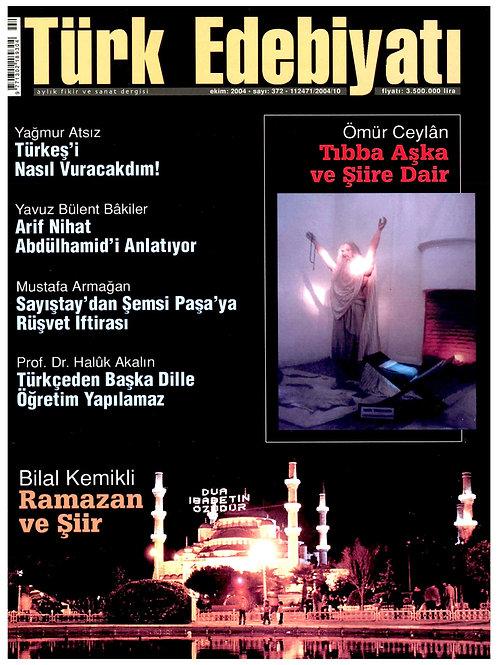 Türk Edebiyatı Dergisi 372. Sayı