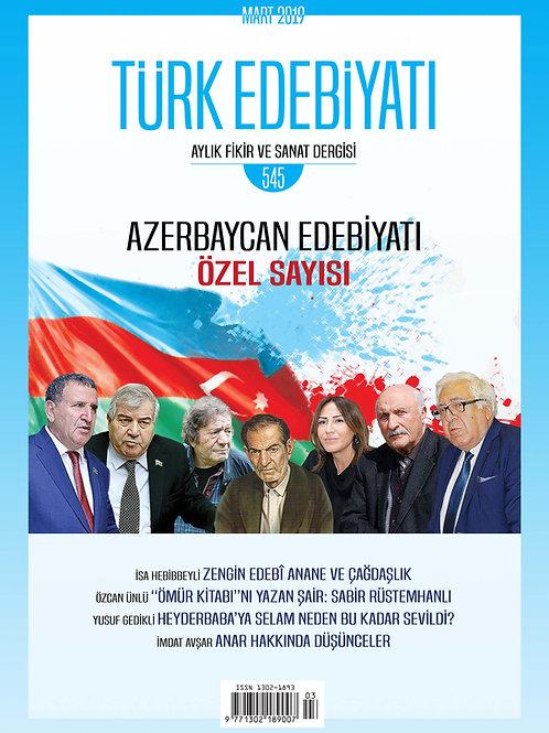 Türk Edebiyatı Dergisi 545. Sayı
