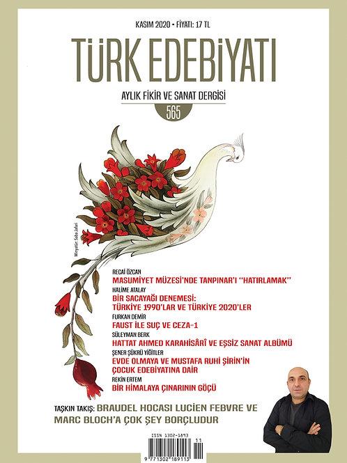 Türk Edebiyatı Dergisi 565. Sayı