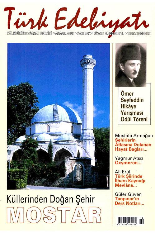 Türk Edebiyatı Dergisi 362. Sayı
