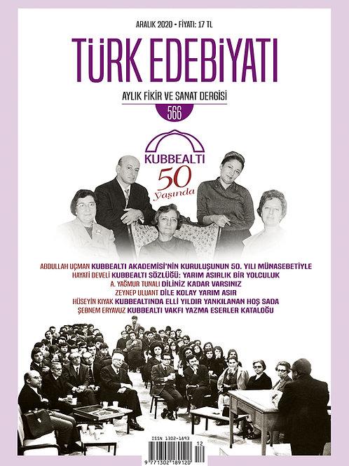 Türk Edebiyatı Dergisi 566. Sayı