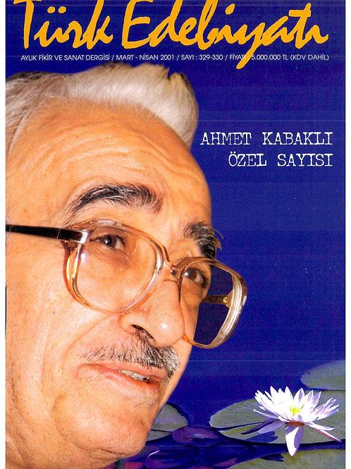 Türk Edebiyatı Dergisi 329-330. Sayı